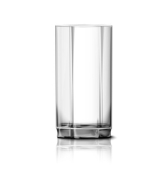 Realistic glass isolated on white vector