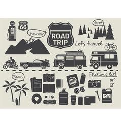 road trip set vector image