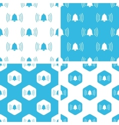 Ringing bell patterns set vector