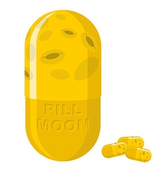 Moon pill fantastic medication from disease vector