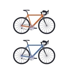 Set of bicycle vector image