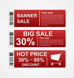 Discount sale banners vector