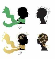 Woman's heads vector