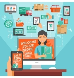 E-commerce and shopping vector