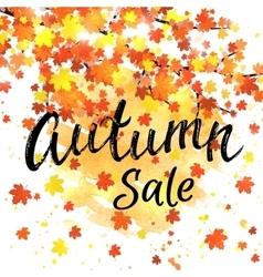 Autumn sale lettering banner seasonal discount vector