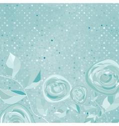 Beautiful retro rose pattern eps 8 vector