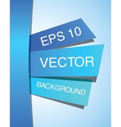 Blue abstract paper design template EPS 10 vector image