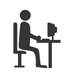 Businessman working pictogram graphic design vector