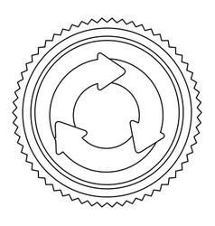 Circular frame contour with circular recycling vector