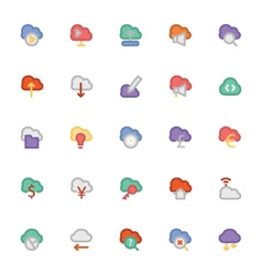 Cloud computing icons 3 vector