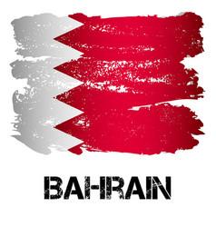 flag of bahrain from brush strokes vector image