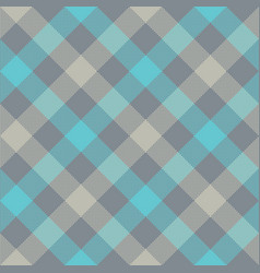 gray blue diagonal checkered plaid seamless vector image vector image