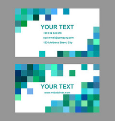 Green blue square design business card template vector