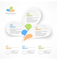 Infographic petal elements vector image