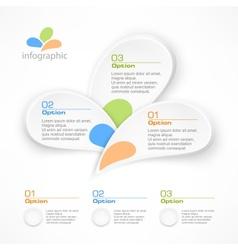 Infographic petal elements vector image vector image