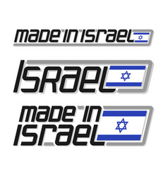 made in israel vector image vector image