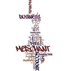 Merchant accounts how to save money text vector