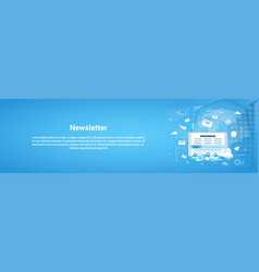 newsletter concept horizontal web banner with copy vector image vector image