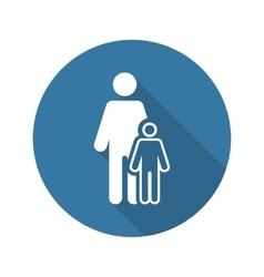 Pediatrics and medical services icon flat design vector