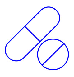 Pill and tablet vector