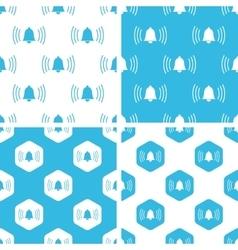 Ringing bell patterns set vector