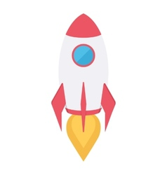 Rocket space ship vector image vector image