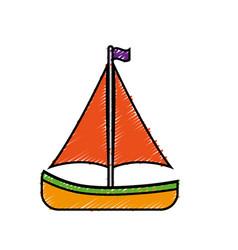 Sailboat icon image vector