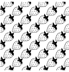 seamless of flat strawberries vector image vector image