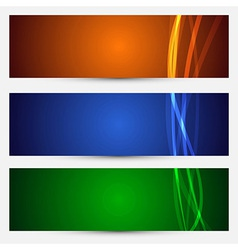 Set of bright abstract backgrounds vector image vector image
