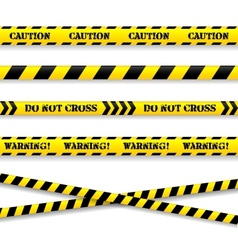 Set of caution tapes vector image vector image