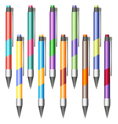Set of multi-colored pens vector