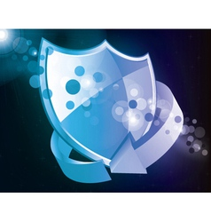 shield icon with arrow vector image vector image