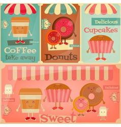 sweet shop set vector image vector image
