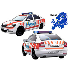 Swiss police car vector