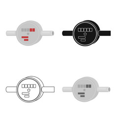 Water meter icon in cartoon style isolated on vector