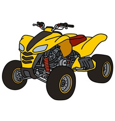 Yellow all terrain vehicle vector