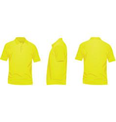 yellow polo t shirt vector image vector image