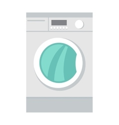 Washing machine household appliances in flat style vector