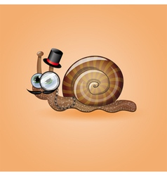 Isolated funny male snail vector