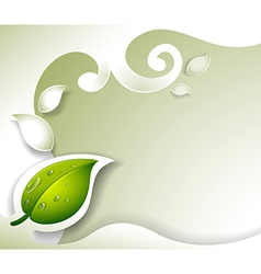 A gray stationery with a leaf vector