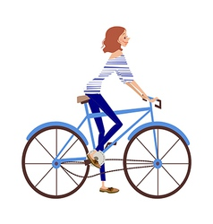 Bicycle woman vector