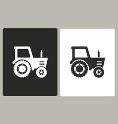 Tractor - icon vector