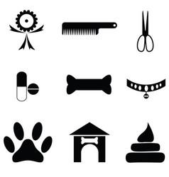 dog icon set vector image