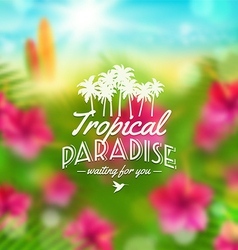 Type design with tropical nature vector