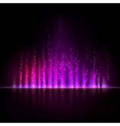 Violet aurora light abstract backgrounds vector