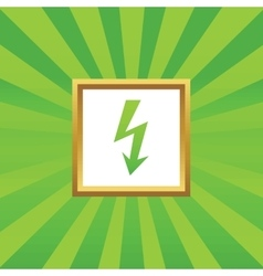 Lightning picture icon vector