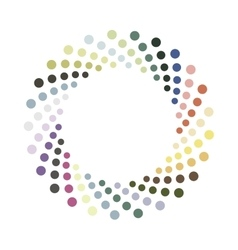 Abstract colorful circle design element vector image