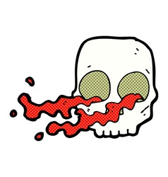 Comic cartoon gross skull vector