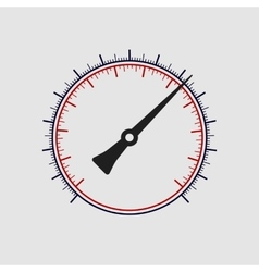 Manometer without numbers on a white vector