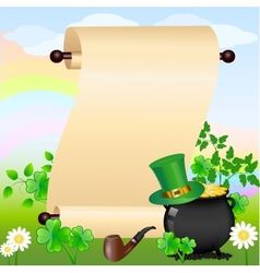 St patricks scroll vector